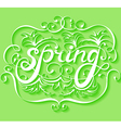 Spring lettering background vector image vector image