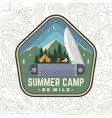 summer camp patch be wild concept vector image vector image