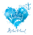 summer heart blue 380 vector image vector image