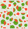 summer theme seamless pattern watermelon and vector image vector image