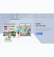 supermarket landing page vector image