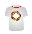 T Shirt Template- Circle art vector image vector image