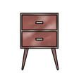table drawer furniture interior decoration design vector image