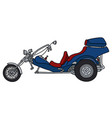 the blue motor tricycle vector image vector image