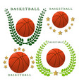 the theme basketball vector image vector image