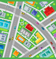 top view city streets map background card vector image