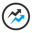Trends icon vector image vector image