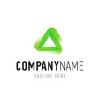 triangle green abstract isolated element for logo vector image