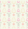 xmas sweets seamless pattern with candy cane stick vector image vector image