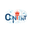 Content Word Typography vector image