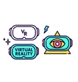Virtual reality glasses headset gadget logo vector image