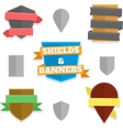 Shields and banners vector image