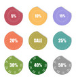 sale and percentage tear sticker label set vector image