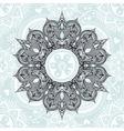 Zentangle stylized Round Indian Arabic Mandala vector image