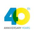 40 anniversary years logo vector image vector image
