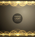 abstract golden light transparent effect vector image vector image
