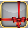 App icon with gift bow vector image