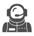 astronaut avatar solid icon spaceman vector image vector image