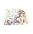 ballerina cute little dreamy girl ballerina vector image vector image