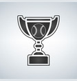 baseball trophy cup award icon in flat vector image vector image
