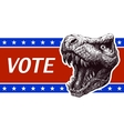 be responsible - presidential election poster vector image