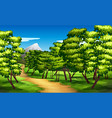 beautiful green landscape background vector image