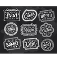 Blackboard frame signs hand drawn doodles vector image