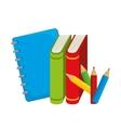 books colors study school desing vector image