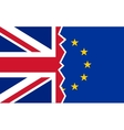 Brexit UK EU referendum flags vector image