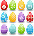 bright Easter eggs vector image vector image