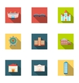Building set icons in flat style Big collection vector image vector image