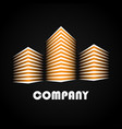 buildings company icons vector image vector image