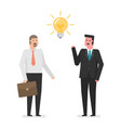businessmen with an idea vector image
