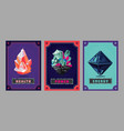card deck collection game art fantasy ui kit vector image vector image