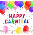 Carnival background with realistic balloons vector image
