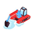 cleaning road isometric icon vector image