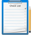 Clipboard with Checklist vector image vector image