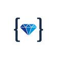code diamond logo icon design vector image vector image