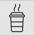 coffee cup icon on isolated transparent vector image vector image