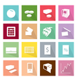 Collection of 16 Business Item Icons Banner vector image
