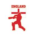 cricket batsman england vector image