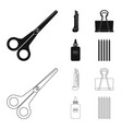 design of office and supply icon vector image vector image