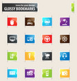 devices bookmark icons vector image vector image