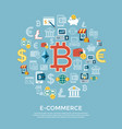 digital bitcoin electronic cryptocurrency vector image vector image