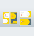 double sided modern business card template layout vector image vector image