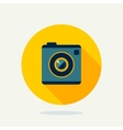 Flat camera icon vector image vector image