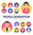 flat people generation avatars composition vector image vector image