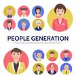 Flat people generation avatars composition