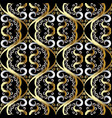 floral vintage oriental style 3d seamless pattern vector image