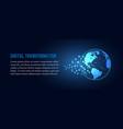 futuristic change of blue earth digital vector image vector image